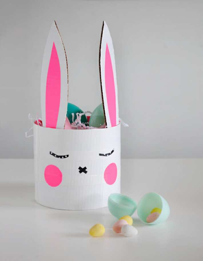 easy diy easter bunny basket craft