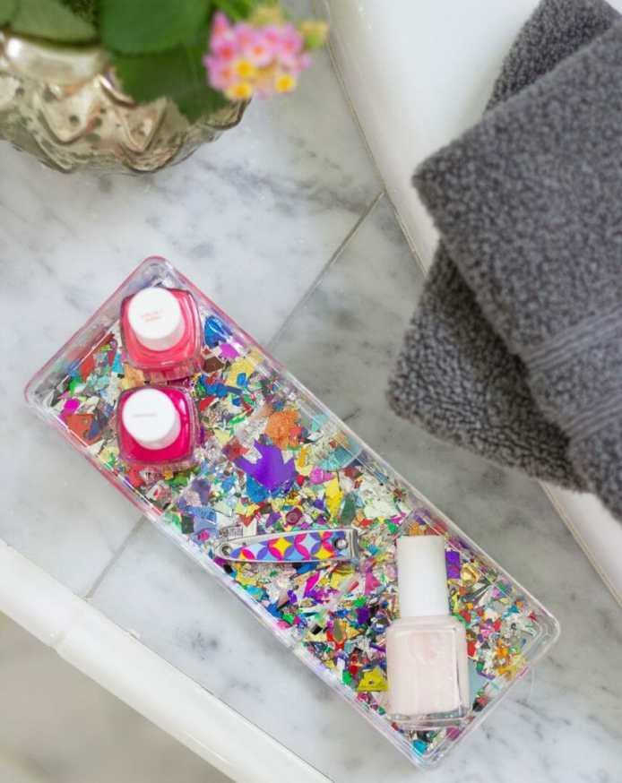 DIY Confetti Makeup Trays 2