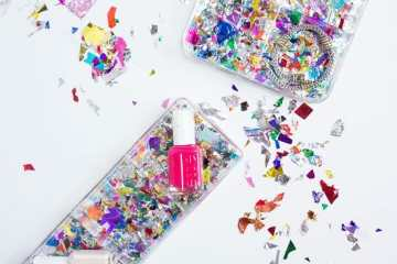 DIY Confetti Makeup Trays