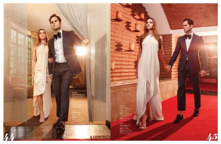Fashion magazine photo shoot