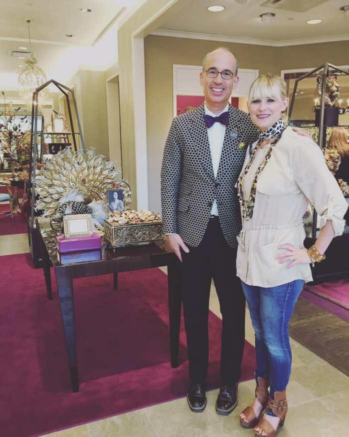 Jay Strongwater and San Antonio Fashion Blogger Tori Johnson