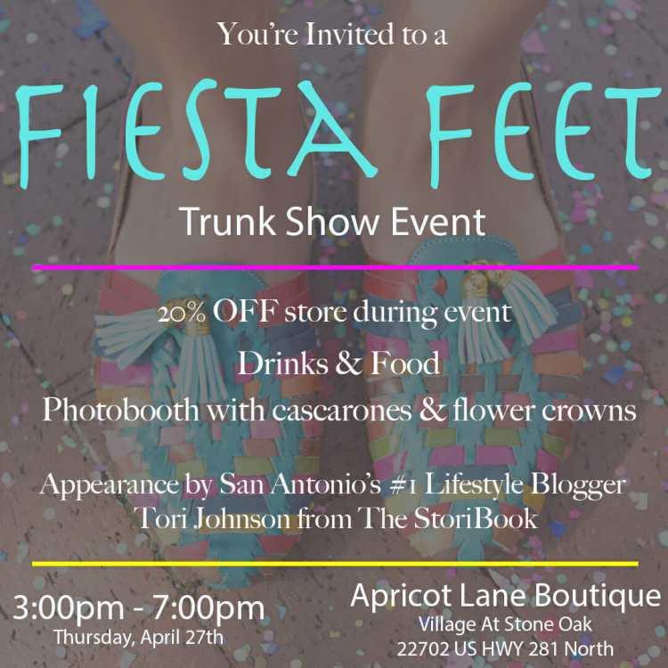 fiesta feet pop up