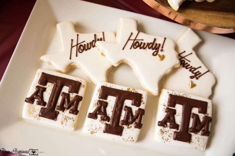 Texas Aggie cookies