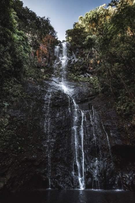 Hana Road waterfall Hawaii