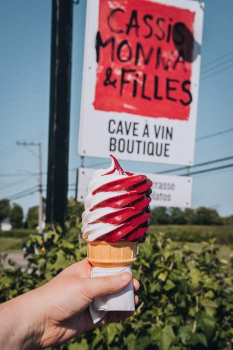 crème glacée Cassis Monna & Filles