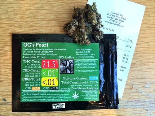 CLICK TO EMBIGGEN $40 gets you two grams of pot and more information about your stash than youve ever had before.