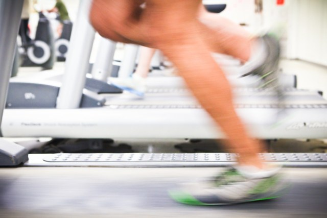 Legs Running on Treadmill