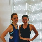Cat and Laura at SoulCycle