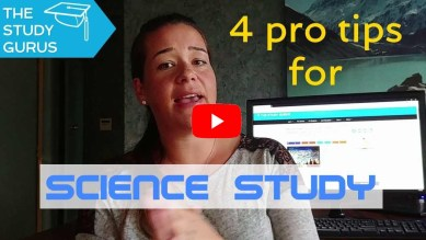 Video — How to study for high school science exams