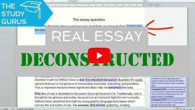 Video — How to write a top grade exam essay | Real high school exam essay deconstructed
