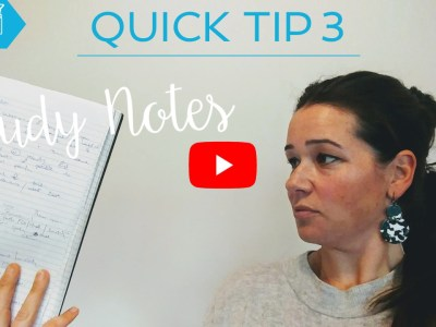 quick tip - study notes