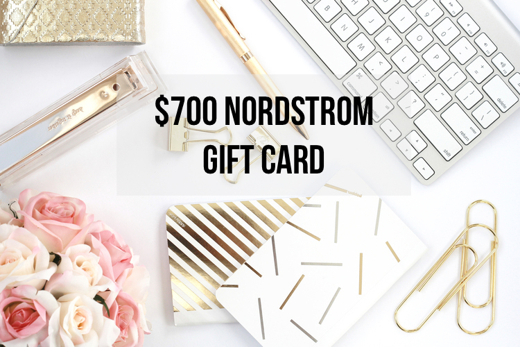 $700 Nordstrom Gift Card Giveaway
