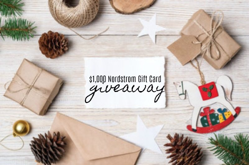 $1,000 Nordstrom Gift Card Giveaway