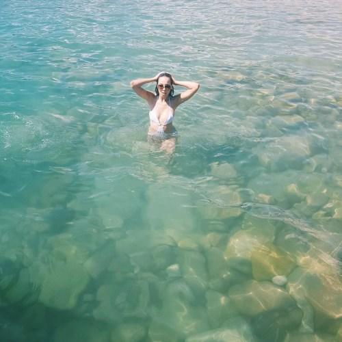 Girl in sea Ibiza