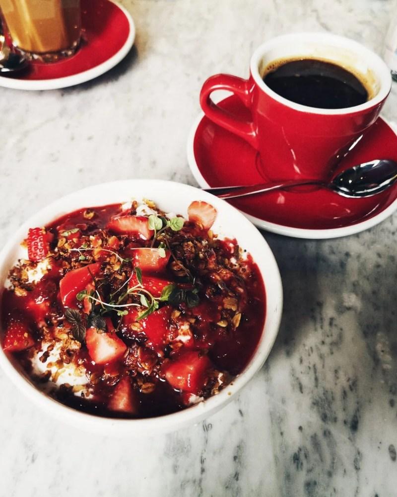 vegan infliuencers - breakfast smoothie bowl, black Americano - The Style of Laura Jane - women's lifestyle blog UK