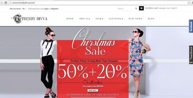 trendy divva Christmas offers