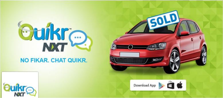 Quikr NXT online car classifieds
