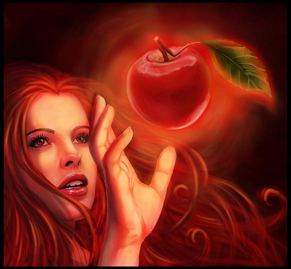 Eve and forbidden apple