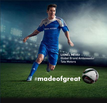 Tata Motors Lionel Messi #madeofgreat