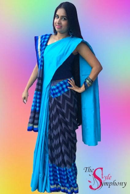 Maitreni Mishra dual drape Triveni