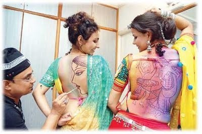 navratri back tattoo
