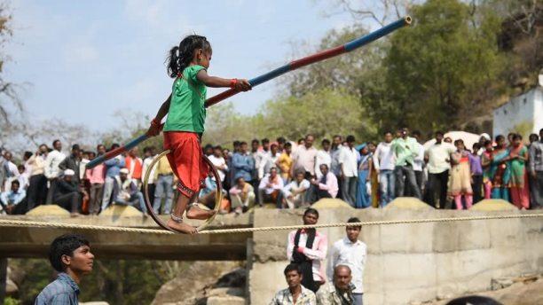 tightrope trick