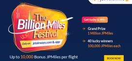 #TheBillionMilesFestival: MilesToGo like Never before with @JetAirways