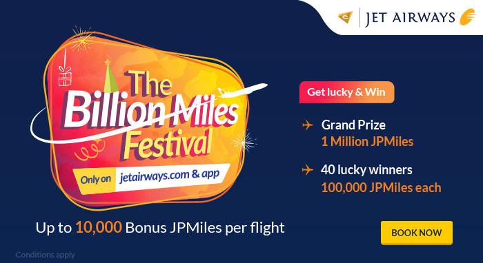 The Billion Miles Festival TBMF Jet Airways