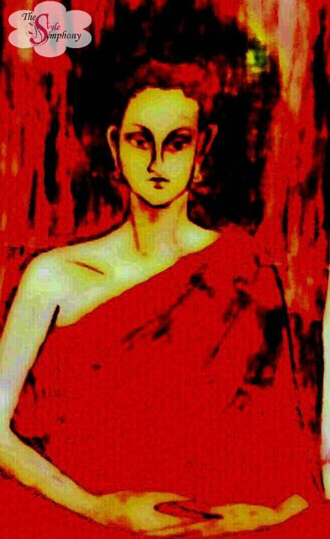 Bodhisattva painting Vineeta Mishra the style symphony