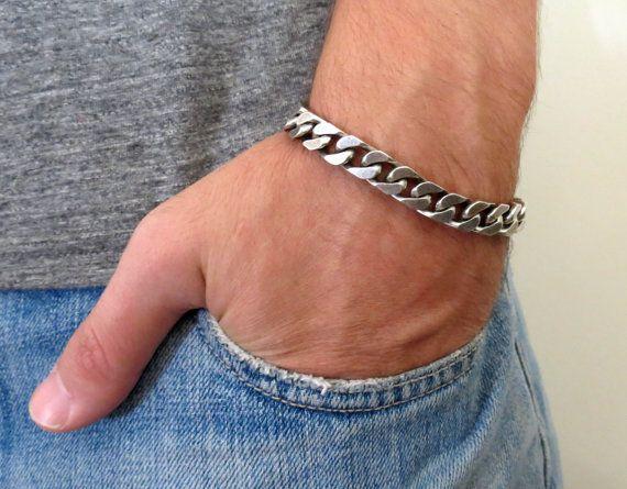 silver bracelets men
