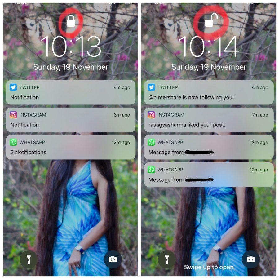 iPhone X review screen notifications bar