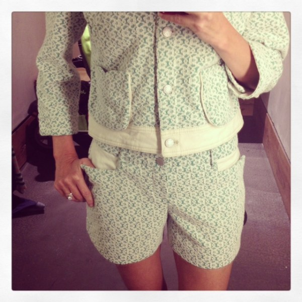 anthropologie lattice meadow jacket shorts