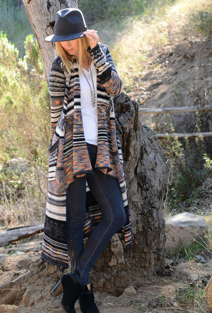 Studio 1220 Midnight City Long Cardigan