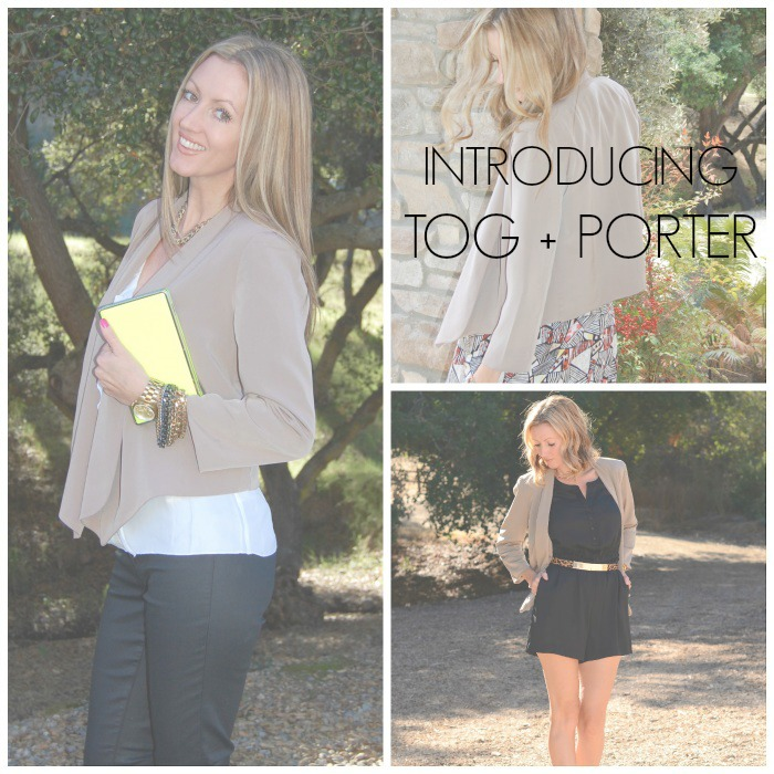 Tog & Porter Draped Blazer