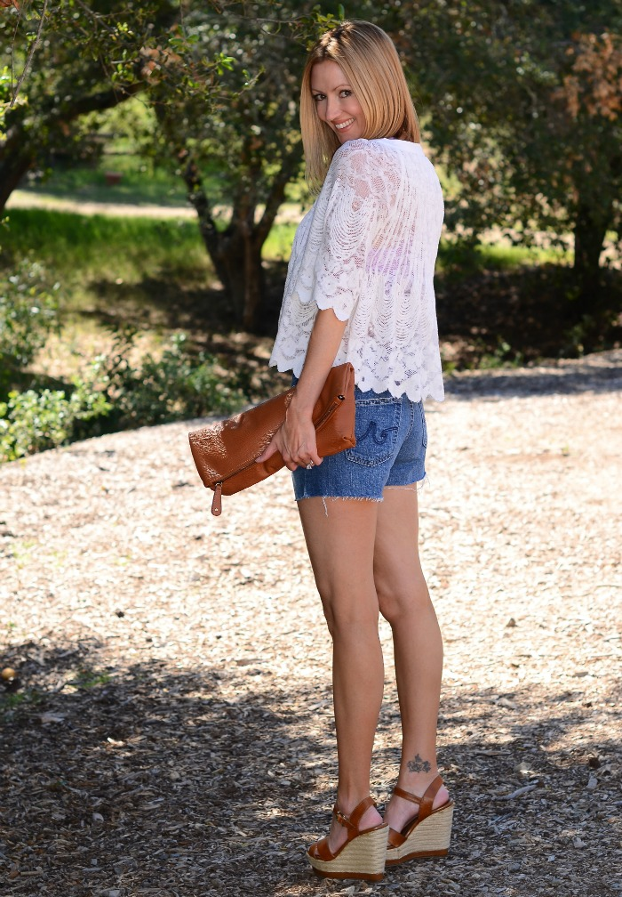 AG Pixie Cut-Off Shorts