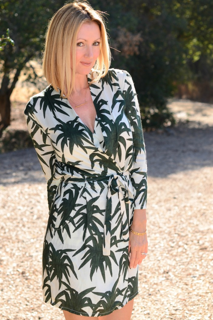 Asos Palm Print Dress