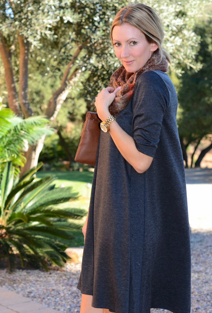Golden Tote Swing Dress