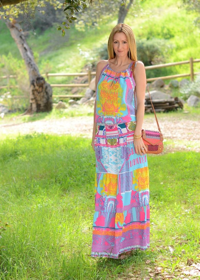 Hale Bob Spring Maxi Dress