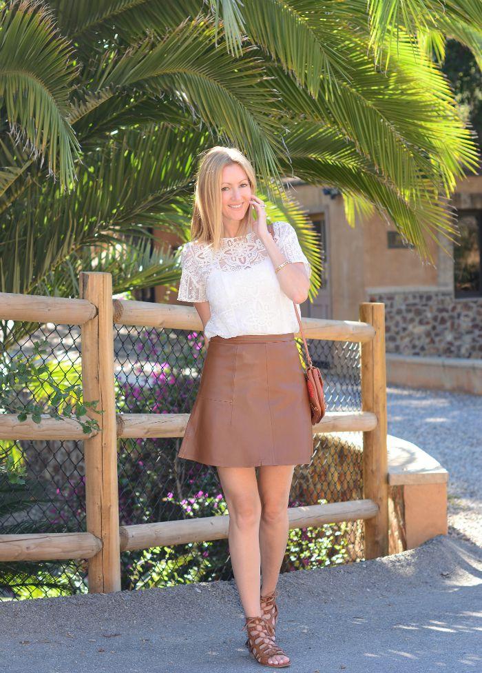 Jcrew Leather Fluted Skirt 2