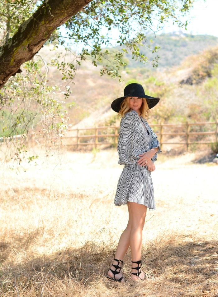 Olivaceous Striped Dress