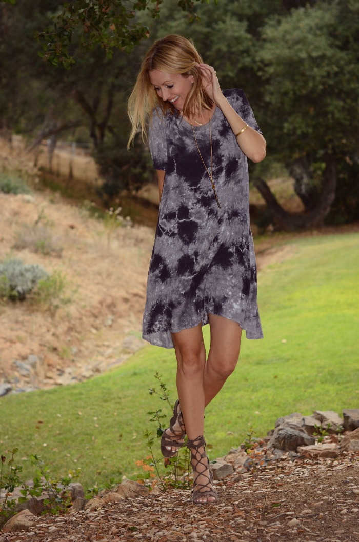 Swirl Tie Dye Dress