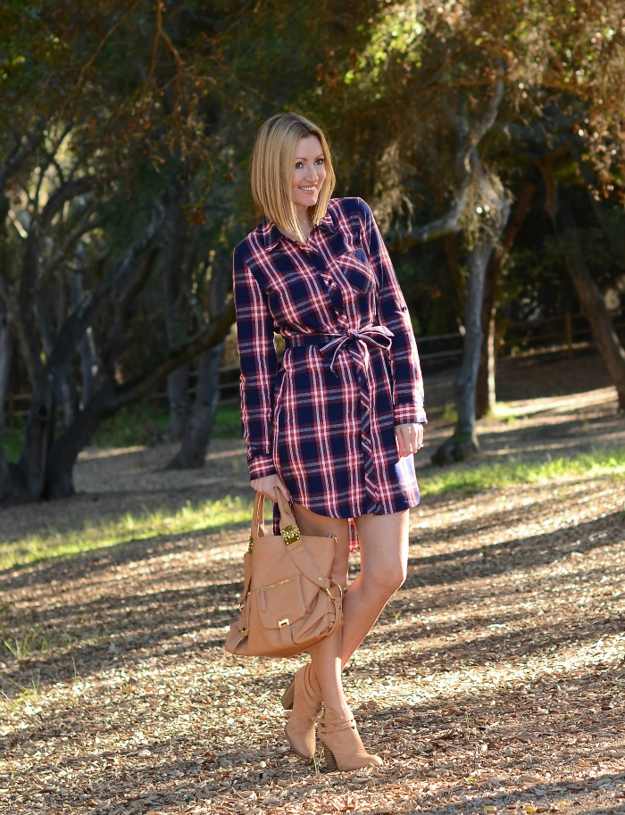 Justfab Plaid Flannel Dress
