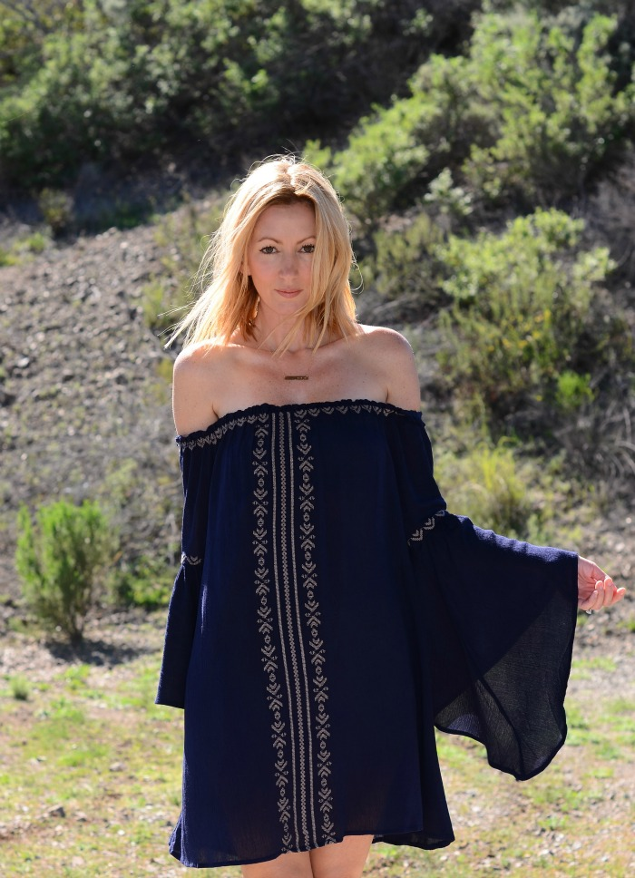 Boho Off The Shoulder Dress