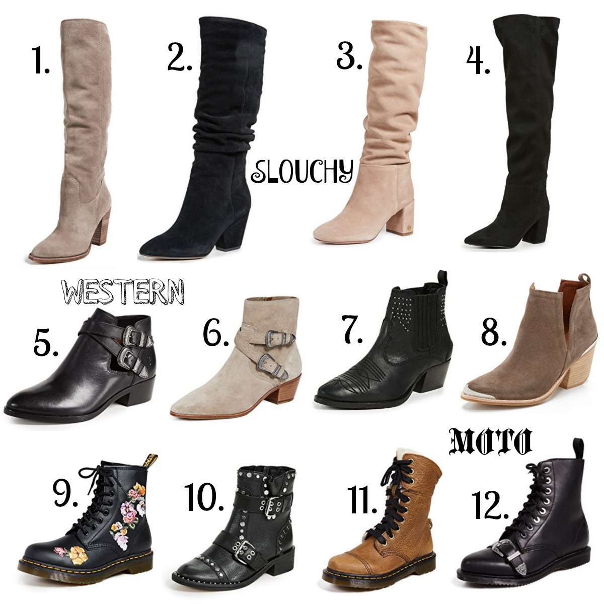 Womens Boot Styles