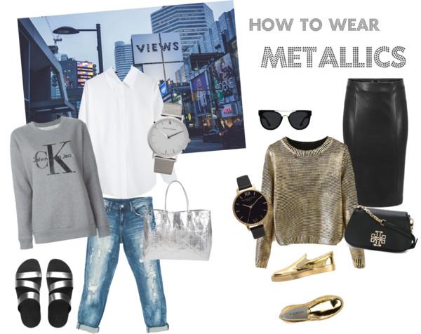 How to wear metallics