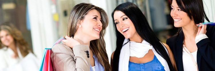 women-shopping-talking