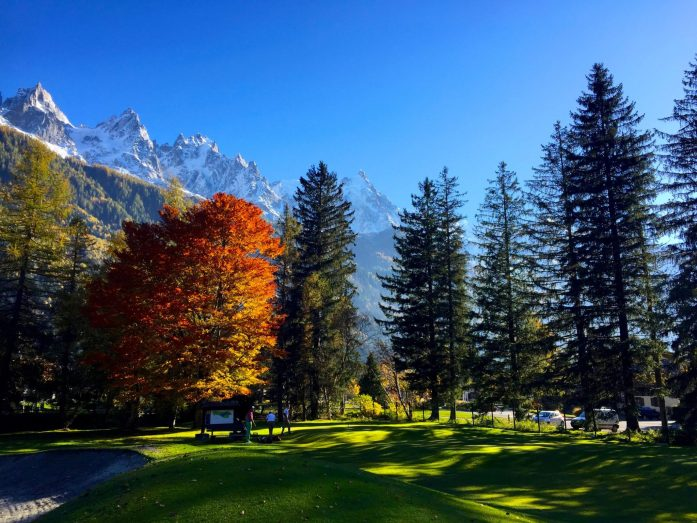Chamonix Golf Course in Autumn