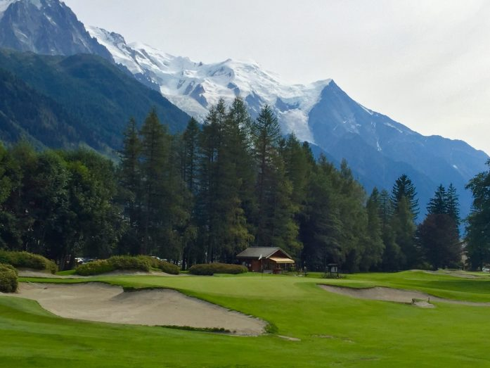 Sand on 9th Hole of Chamonix Golf Course