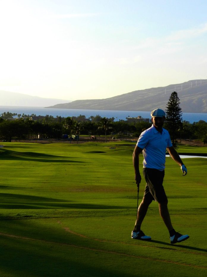 Serious Putting at Maui Nui Golf Course
