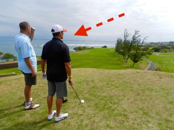 Our Mate John Golfing